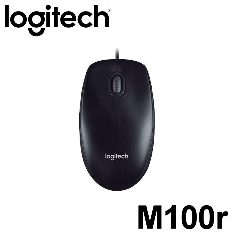 Logitech 羅技 M100r 光學滑鼠 有線滑鼠 外形精巧 行動便攜 曲線外形 1000dpi 雙手均適用