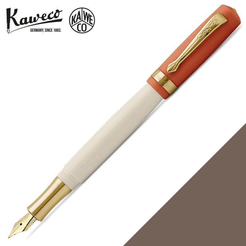 德國 KAWECO STUDENT系列 橘蓋白桿 鋼筆(70s Soul 70年代老靈魂)