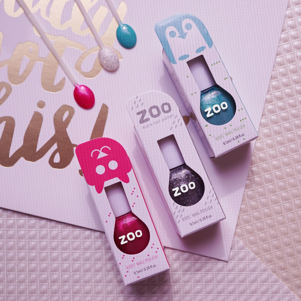 ZOO ㄖㄨˋ 兒童拋棄式指甲油 企鵝的海灘派對 三件組(3色/50,53,81)