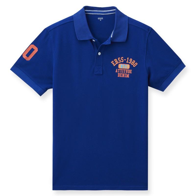 【ERSS】NYC短袖POLO衫 - 男 土耳其藍 K70028