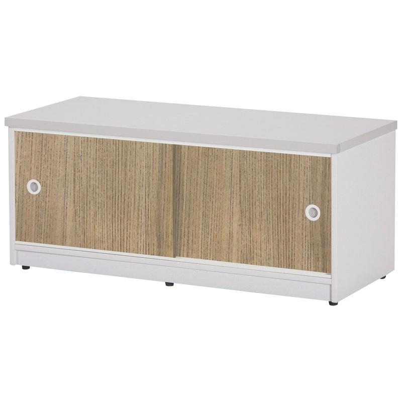 【C989-15】塑鋼坐鞋櫃(SH-21)(柚木門、白色)