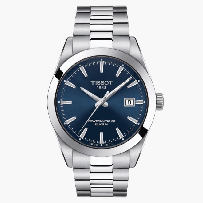TISSOT天梭 T1274071104100 / 簡約紳士矽游絲機械腕錶 / 40mm
