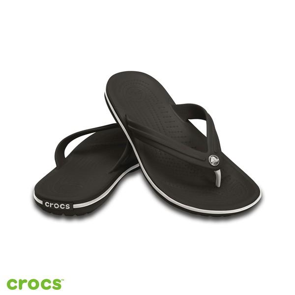 CROCS 中性鞋 卡駱班人字涼拖鞋 11033-001-黑色black