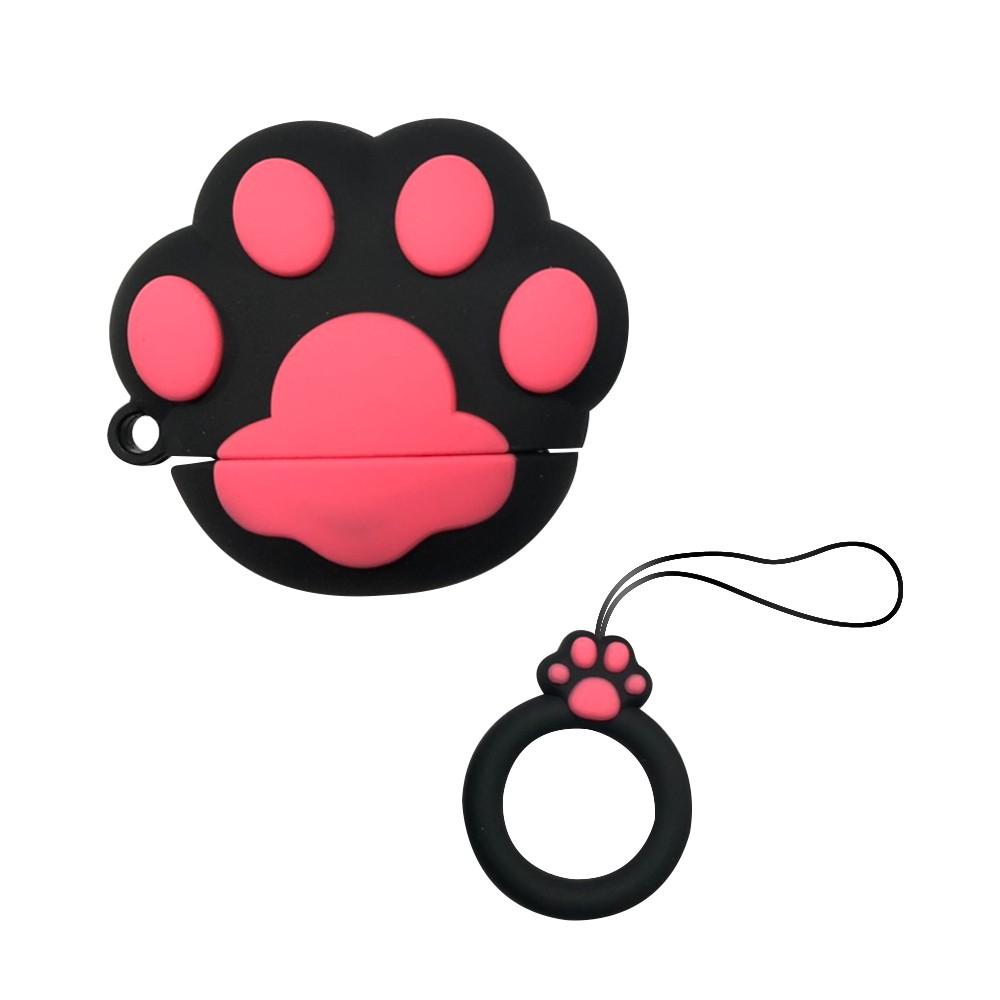 AirPods 貓掌造型保護套(1/2代通用)-黑色