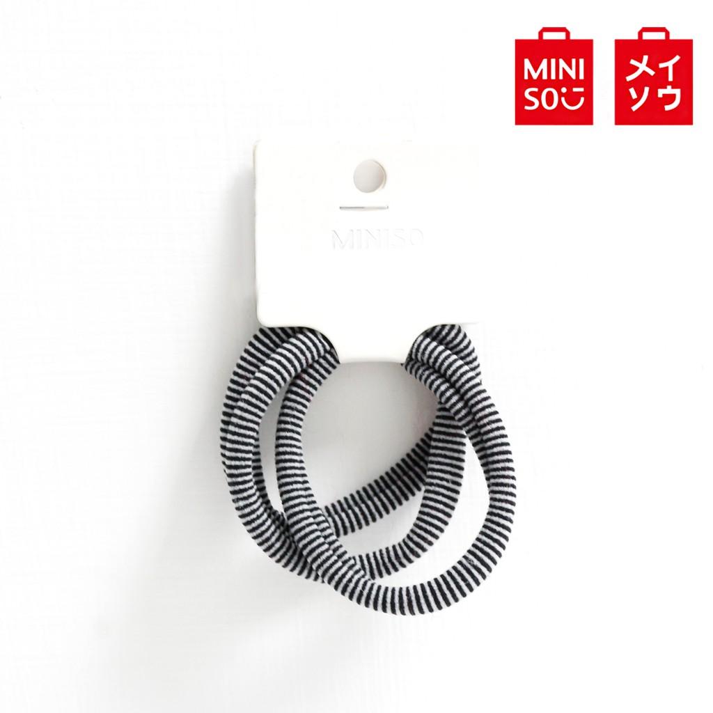【MINISO名創優品】斑馬紋3條裝黑色大號毛巾圈基礎橡皮筋