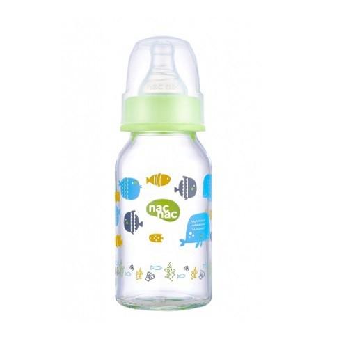 【nac nac】吸吮力學標準耐熱玻璃奶瓶 120ml 240ml