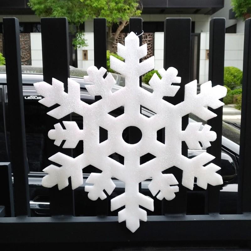 【現貨】雪花泡棉掛飾 玻璃聖誕佈置 大門聖誕佈置 聖誕館