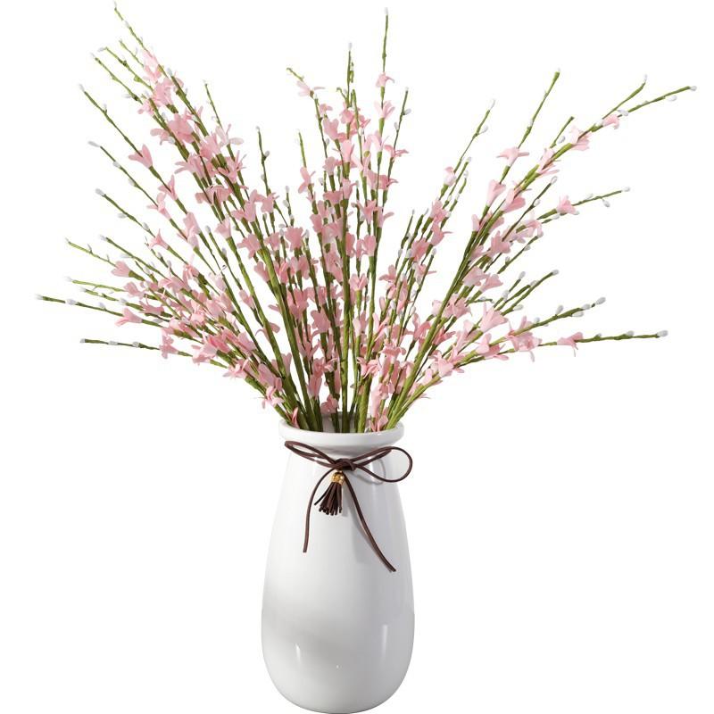 北歐簡約現代陶瓷花瓶仿真梅花套裝飾品創意客廳酒柜電視柜擺件設/可開超取