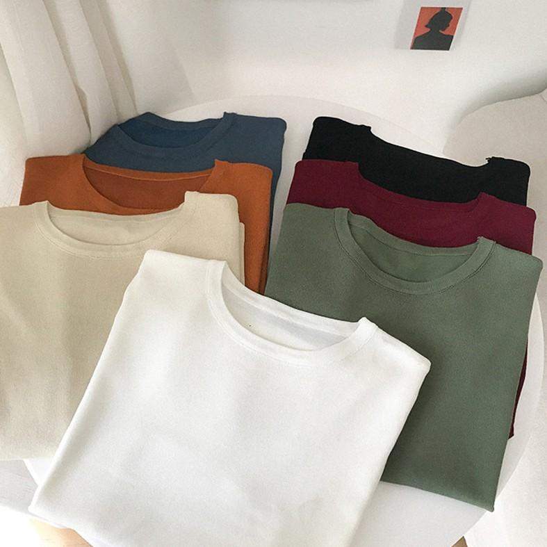 [現貨]針織短袖T恤 126216素面簡約韓版寬鬆學生上衣