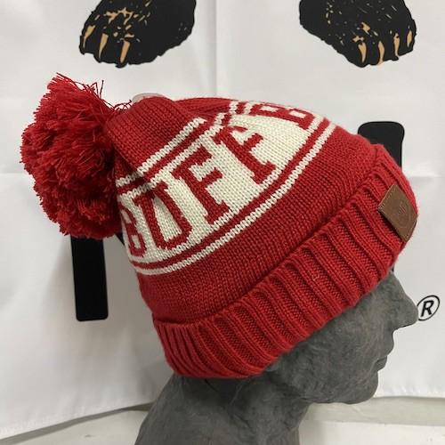 Buff|青少年針織Polar保暖帽 SHIKO RED