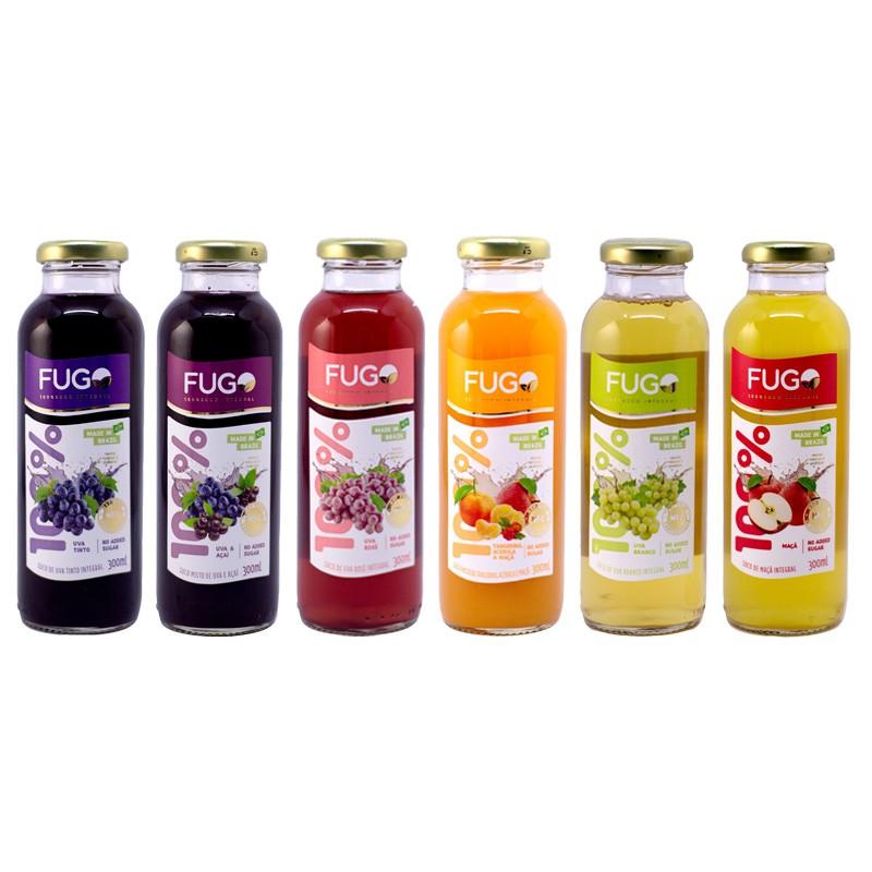 FUGO 巴西進口100%純天然果汁 葡萄/巴西莓綜合/蘋果/綜合(300MLx12入)七款可選 廠商直送