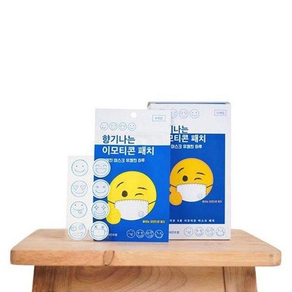 ANNAS 韓國口罩香氛貼 口罩貼紙 香味 芳香 薄荷 笑臉 微笑 正韓 韓國製造 網紅 可愛 大人小孩 防疫
