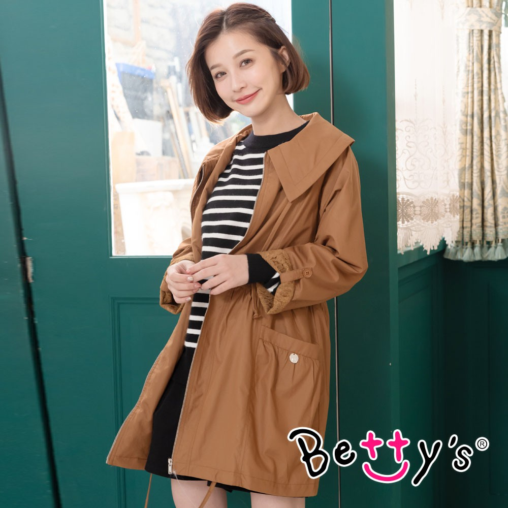 betty's貝蒂思 優雅質感縮腰風衣(咖啡色)