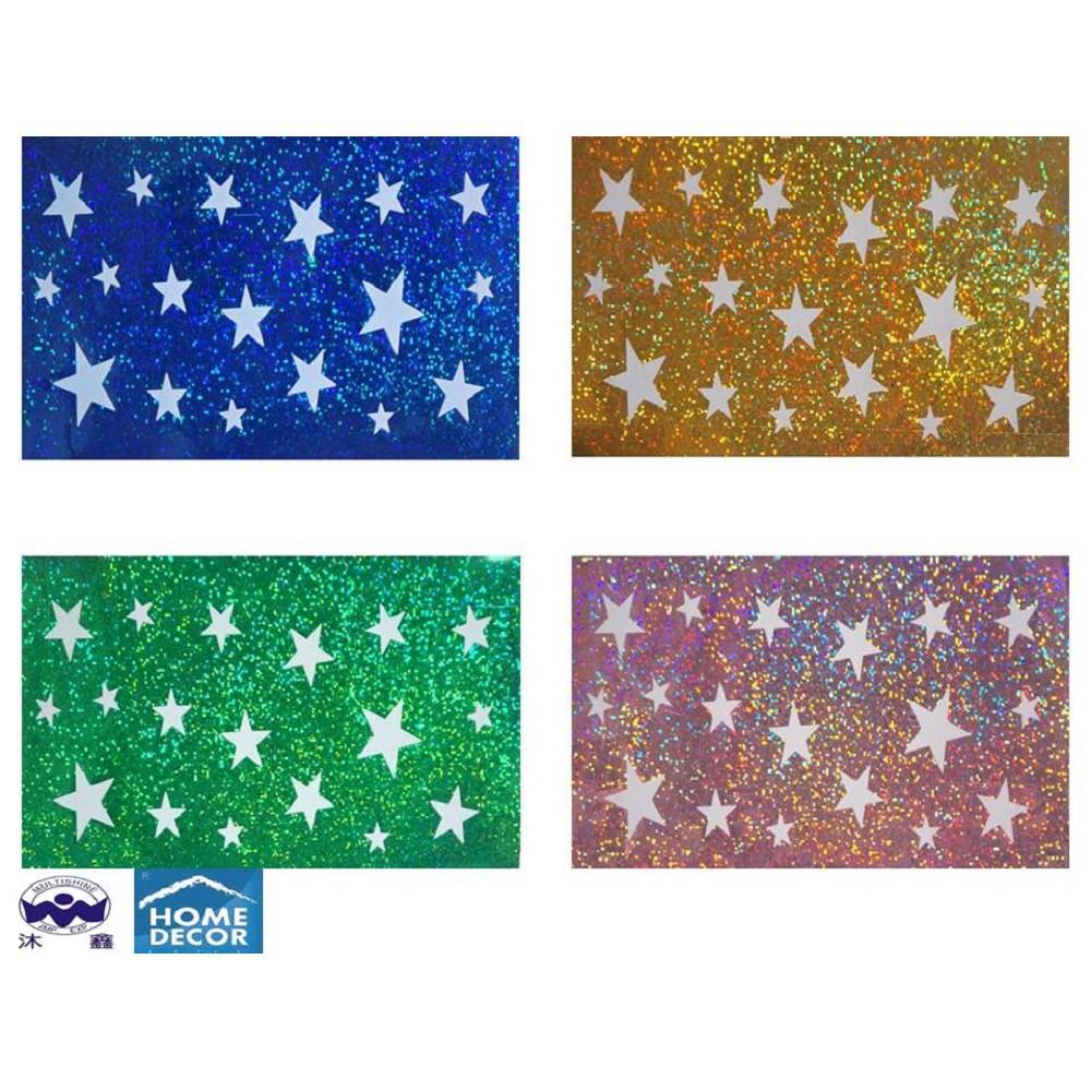 義大利進口HOME DECOR 雷射星夜光貼 10.5cmX20.5cm(同款色3入1組) 任選款