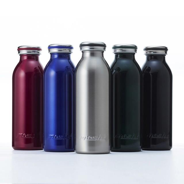 【日本mosh!】復古金屬時尚牛奶保溫瓶450ml MB450