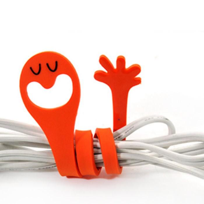 韓版 表情手指造型繞線器 動物電線捲線器 卡通集線器 理線器 綁線帶【DH286】