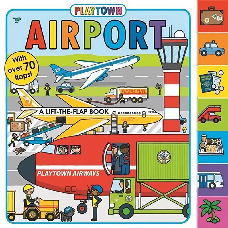 Playtown:Airport 歡樂城國際機場(美國版)(翻翻書)(外文書)