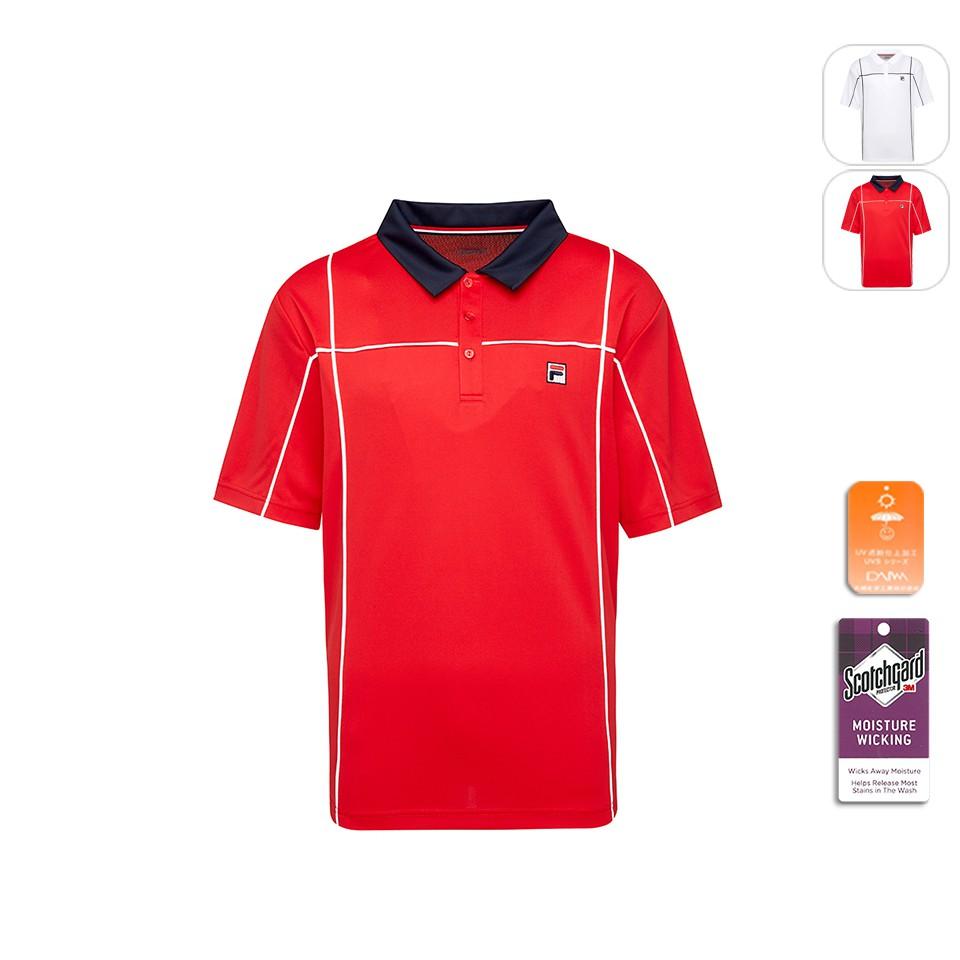 【FILA】男性 吸排抗UV POLO衫-紅色 1POT-5002-RD