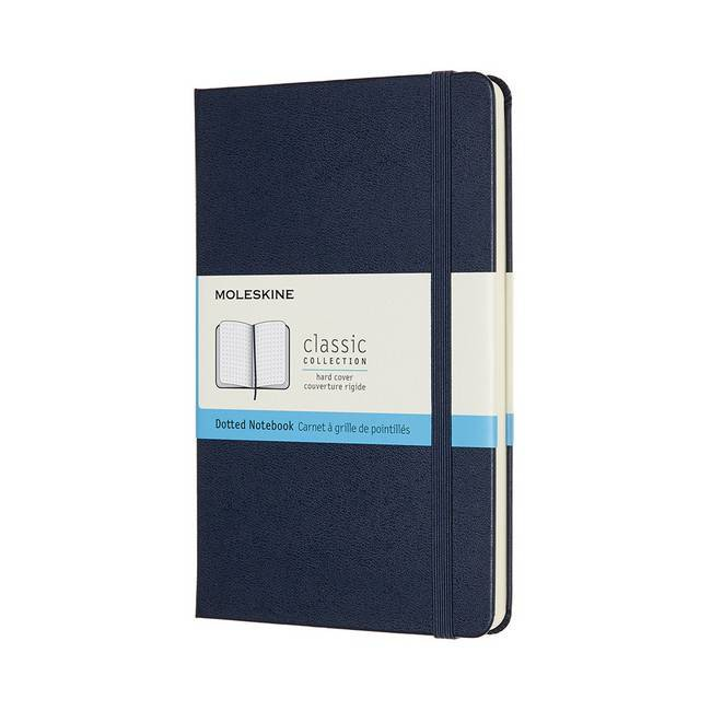 MOLESKINE經典硬殼筆記本/ M型/ 點線/ 藍 eslite誠品