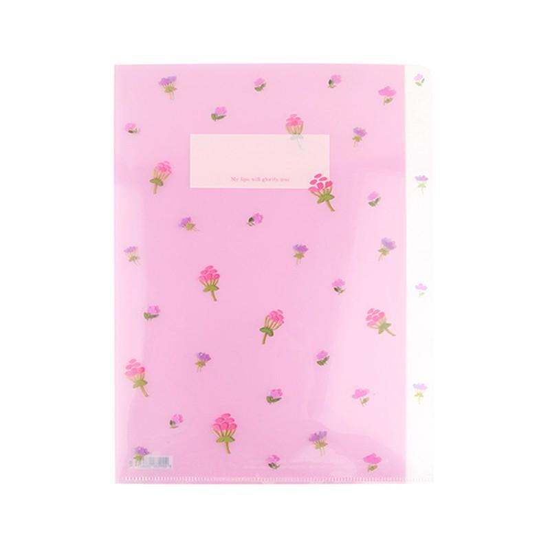 花漾系列 A4三層文件夾(01.風華野莓)