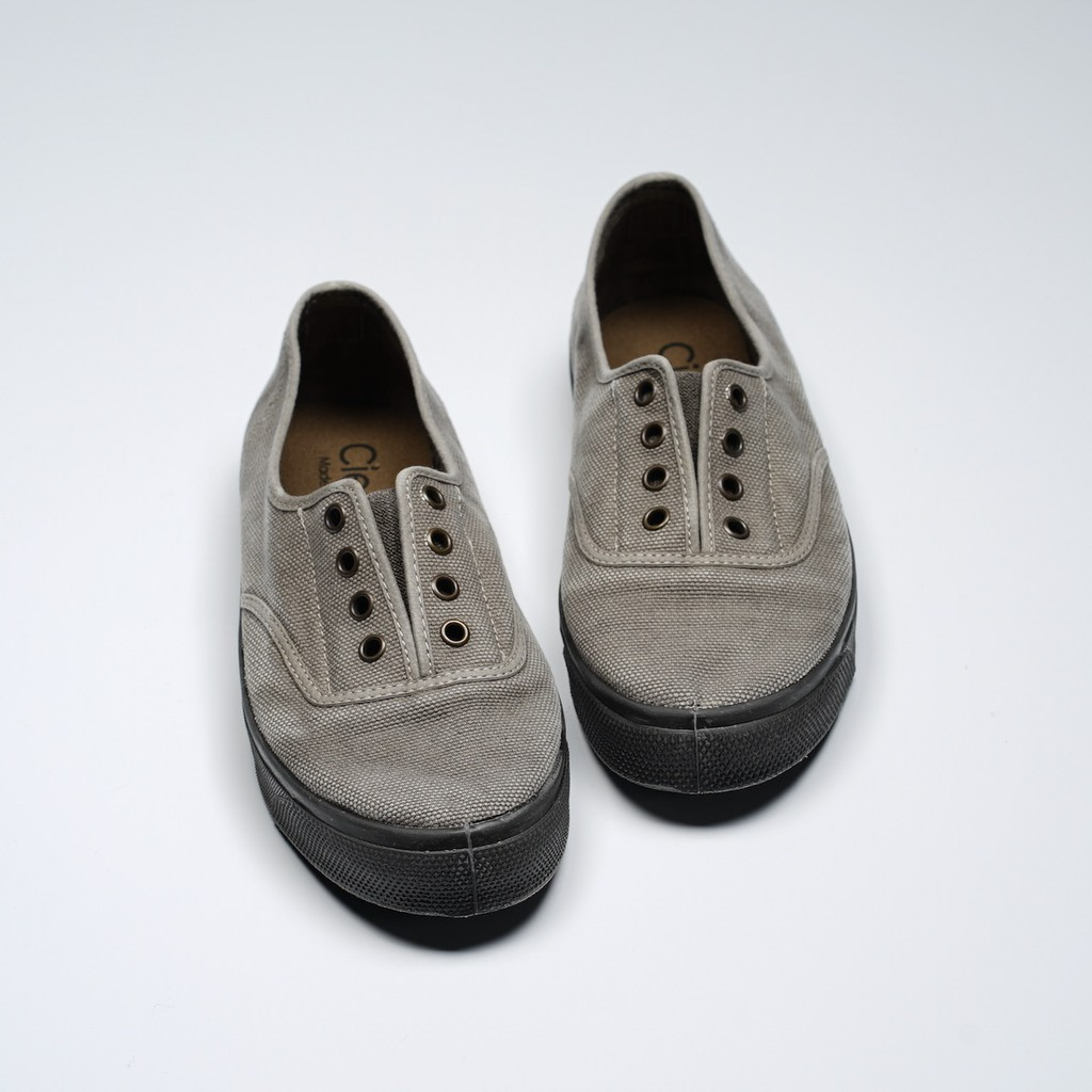 CIENTA 西班牙國民帆布鞋 U10777 170 淺灰色 黑底 洗舊布料 大人