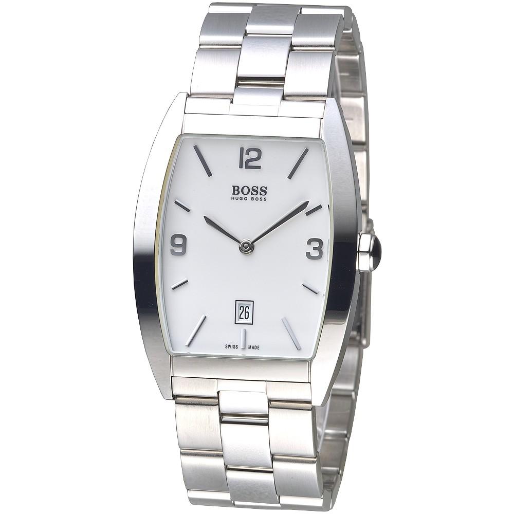 HUGO BOSS 手錶 IT38/2511 酒桶造型時尚簡易風男錶-白 保固二年 廠商直送