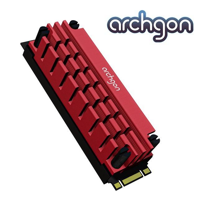 archgon M.2 2280 SSD 散熱片組 HS-1110 紅色 黑色
