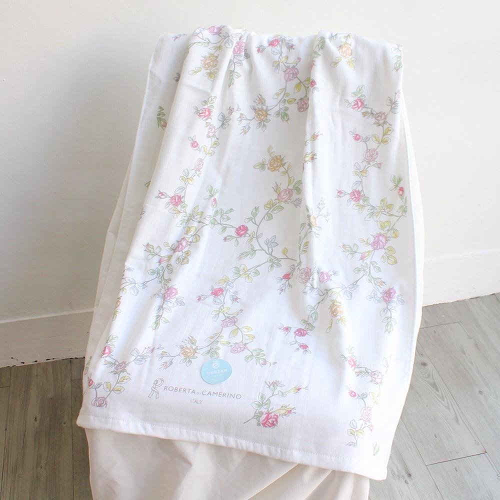 【愛丁堡居家館】[現貨]『義大利 諾貝達 Roberta』 100%純棉 玫瑰紗布浴巾[台灣製]抗菌效果