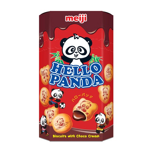 Meiji 明治 貓熊夾心餅乾(巧克力)50g【小三美日】進口 / 團購 / 零嘴 D102023