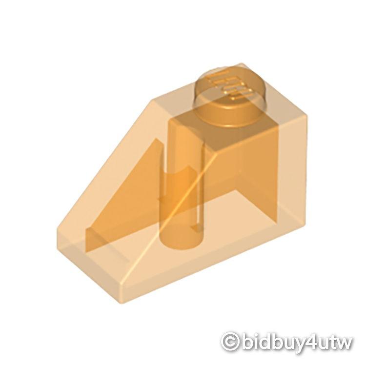 LEGO零件 斜向磚 45 2x1 3040 透明橘色 4261934【必買站】樂高零件