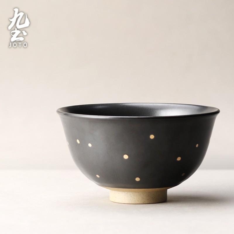 【九土JOTO】日式手工粗陶米飯碗日式手工陶瓷米飯碗湯碗麵碗圓碗粗陶復古碗餐具單個家用創意