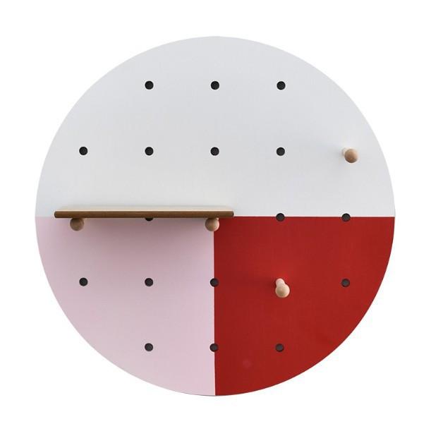 文藝 圓形洞洞板 簡約 客廳餐廳牆麵裝飾 【裝飾美化】