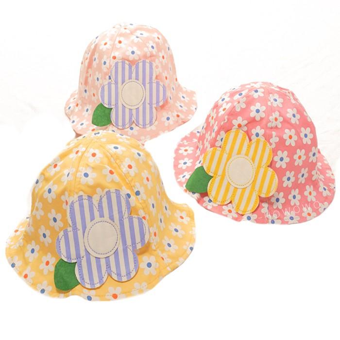 寶寶帽 夏日小花 漁夫帽 遮陽 女寶寶 防曬 嬰兒帽 DL10628 好娃娃