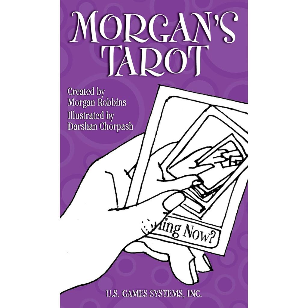 摩根盧賓線條藝術塔羅|Morgan Robbins' Tarot,60年代復古型式黑白創作【左西購物網】