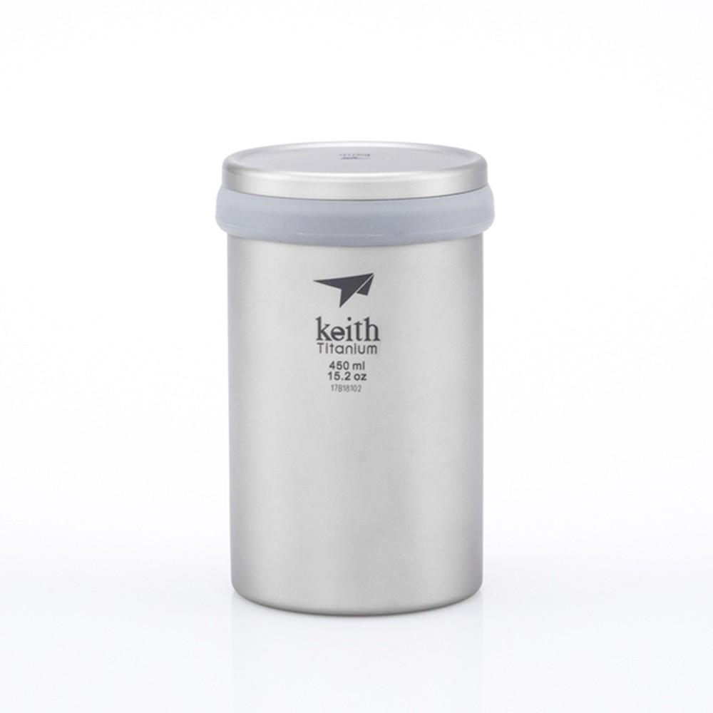 【Keith】鎧斯Ti3521 雙層_過濾辦公泡茶鈦杯 / 450ml《長毛象休閒旅遊名店》