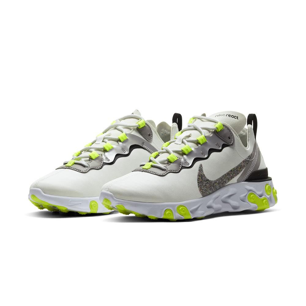 NIKE 耐吉911女慢跑運動鞋W NIKE REACT ELEMENT 55 PRM  白 CD6964100