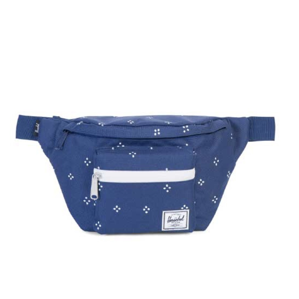 Herschel Seventeen 帆布 水藍 焦點 白色 防水拉鍊 旅行 側包 胸包 斜包 小包 腰包 現貨