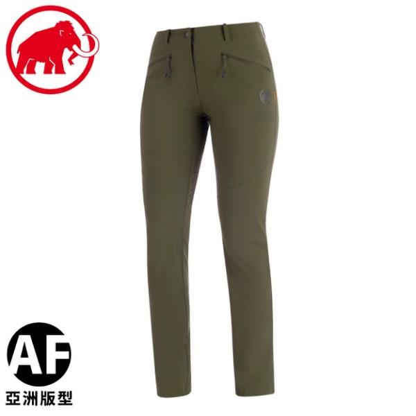 【MAMMUT 長毛象 女 Trekkers 2.0 Pants AF長褲《綠鬣蜥》】1021-00420/休/悠遊山水