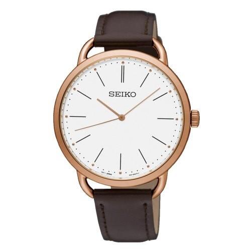 Seiko 精工錶 6N01-00A0K 大三針經典簡約超薄腕錶/白面 38mm