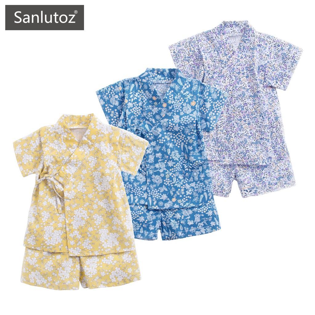 Sanlutoz 寶寶和服浴衣套裝 夏季短袖套裝