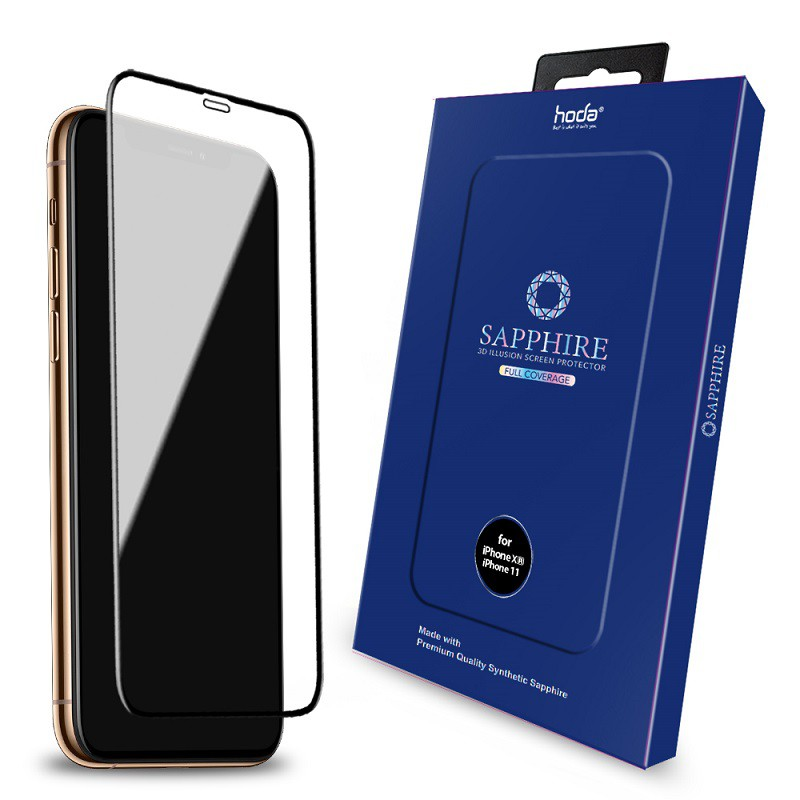 Hoda 藍寶石幻影3D隱形滿版螢幕保護貼,適用iPhone 11 / XR 6.1吋