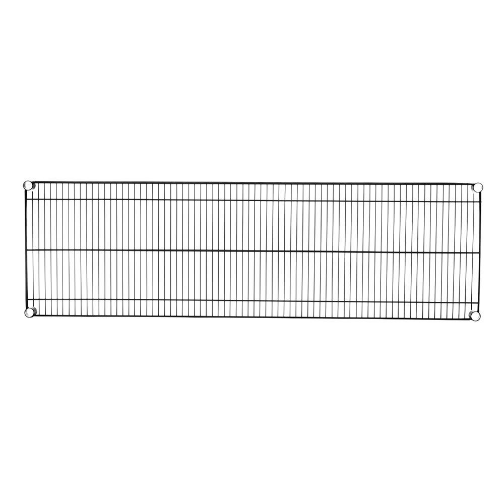 特力屋烤漆耐重型鐵網152x46公分(黑)