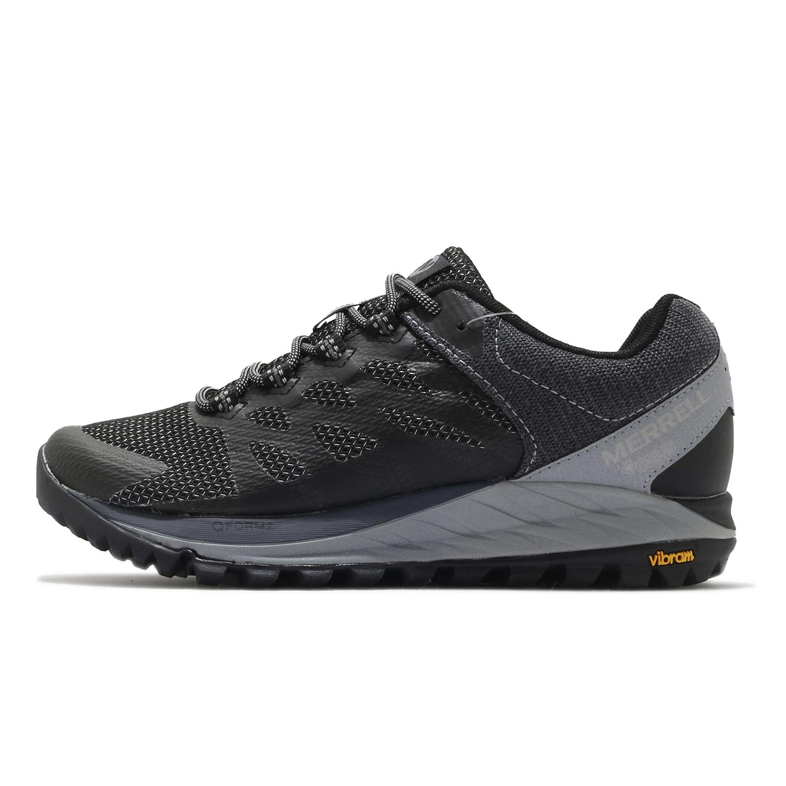 Merrell 戶外鞋 Antora 2 GTX 黑 灰 黃金大底 防水 女鞋 登山鞋【ACS】 ML066750