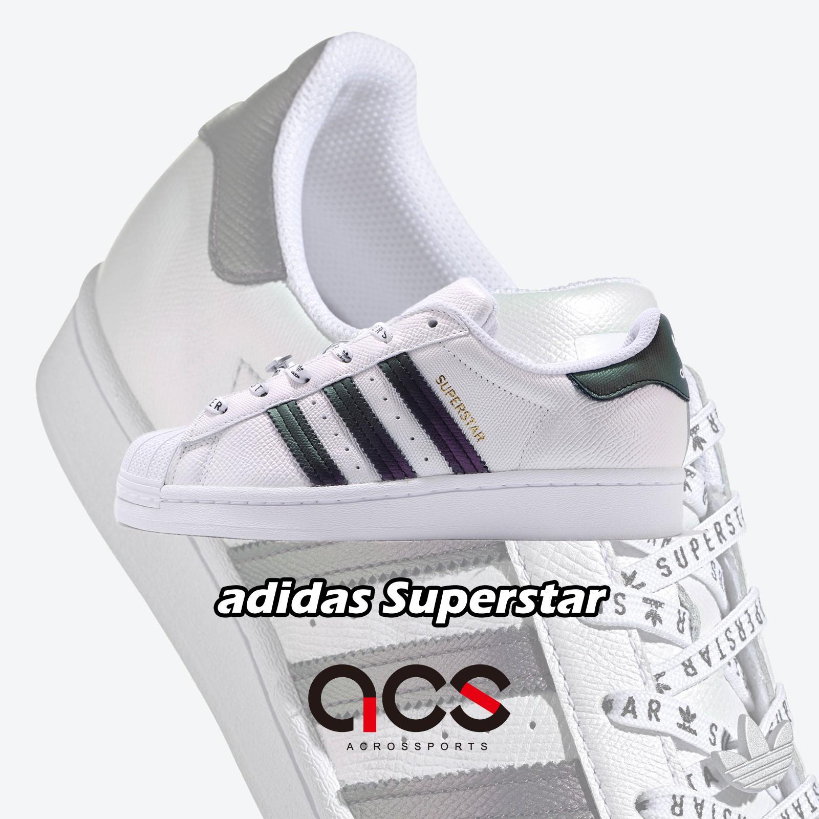 adidas 休閒鞋 Superstar W 白 綠紫 變色 三條線 小白鞋 女鞋【ACS】 FV3396