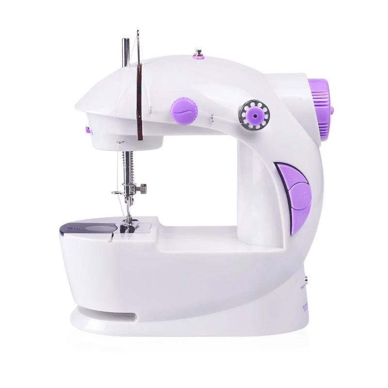【現貨】操作簡單迷你縫紉機 電動裁縫機 雙速雙線 附變壓器+腳踏板 帶照明 能切線