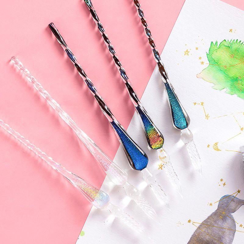 【駿隴】璀璨星空 星空玻璃筆 水性筆 沾水筆 玻璃筆 蘸水筆 禮盒