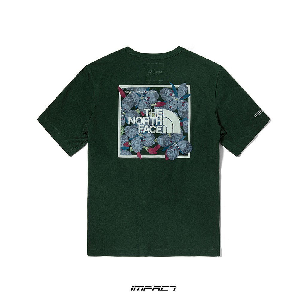 The North Face T-Shirt 北臉 墨綠 深綠 短T 花花 NF0A4NF9 IMPACT