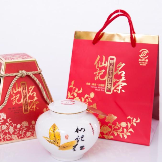 仙記名茶-小葉種金萱紅茶 茶葉禮盒 (通過產銷履歷驗證 珠露產銷班班員 來自阿里山石棹茶區的高山茶 附贈精美禮盒)