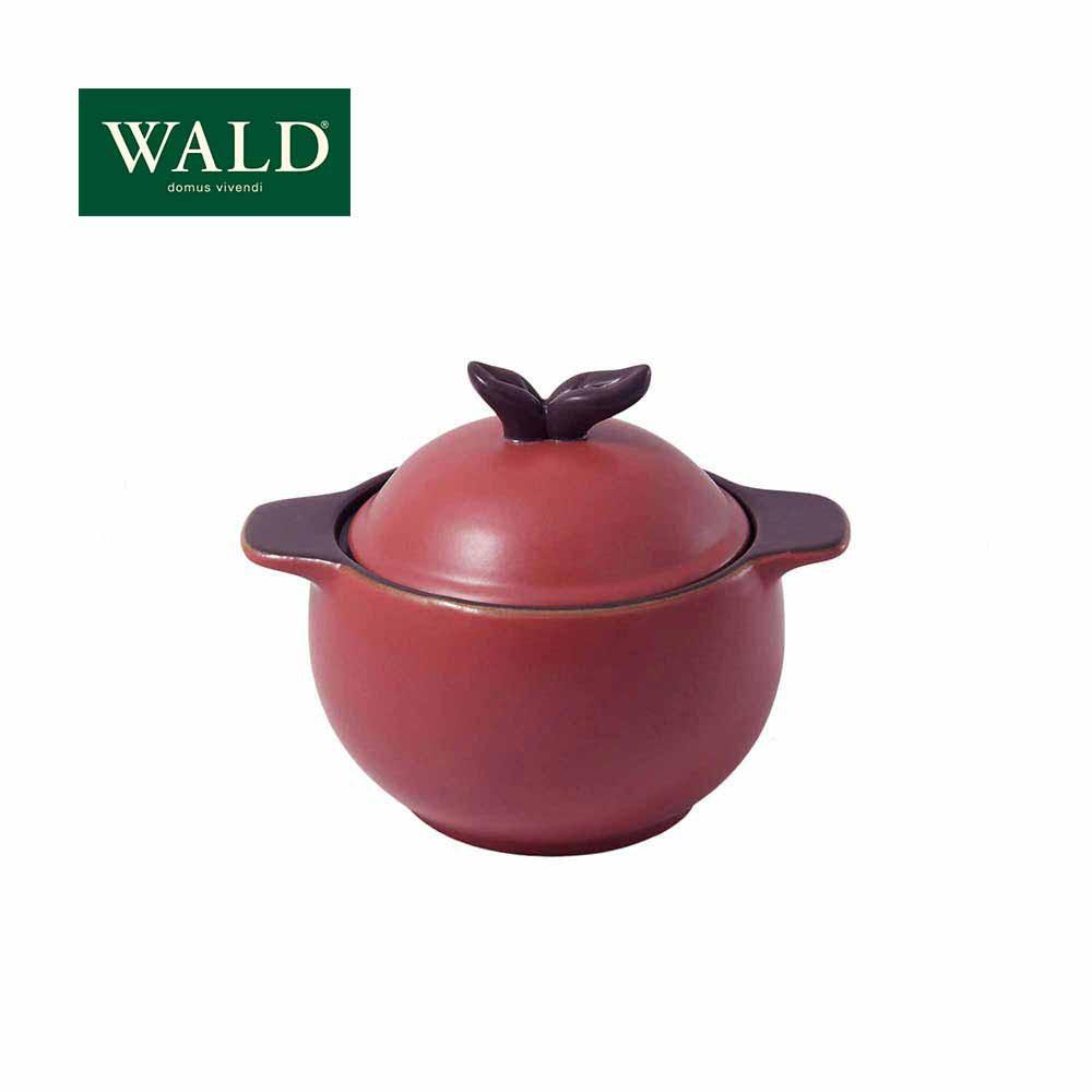 【WALD】 陶鍋系列-蘋果造形小鍋(玫紅)(附原廠彩盒)