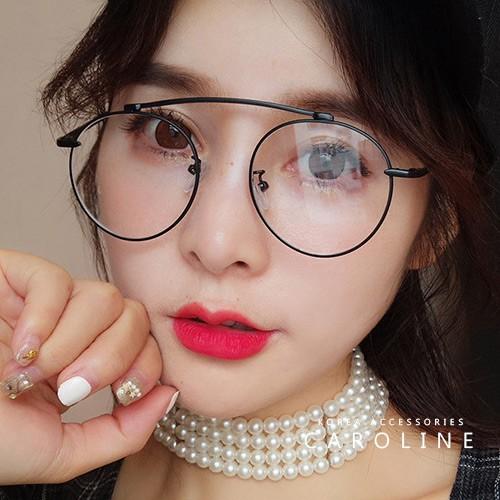 金屬復古小圓框 平光眼鏡 71411